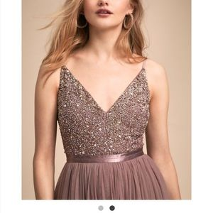 BHLDN Avery dress in violet gray
